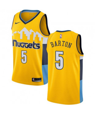Denver Nuggets Nike Will Barton Authentic Gold Statement Edition Men's Jersey